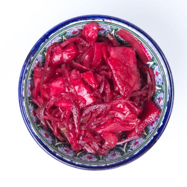 Korejiešu kāpostu - biešu salāti 2